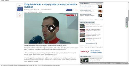 Zbigniew Bródka z ekipą łyżwiarzy trenują w Sanoku [WIDEO  - 20 sierpnia 2014_W500