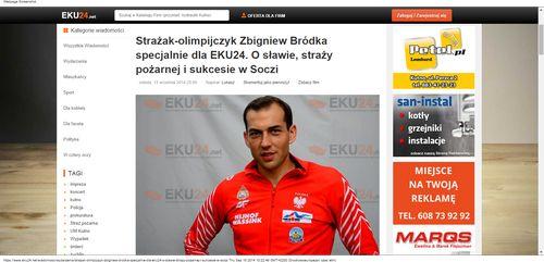 Strażak-olimpijczyk Zbigniew Bródka specjalnie dla EKU24. O sławie, straży pożarnej i sukcesie w Soczi_W500