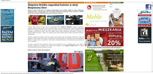 Zbigniew Bródka nagradzał kutnian w akcji Bezpieczny Dom   eKutno.pl_W500