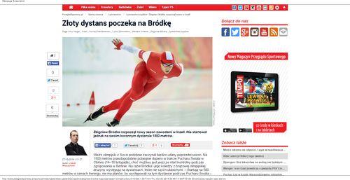 Łyżwiarstwo szybkie - Zbigniew Bródka rozpoczął sezon w Inzell - Łyżwiarstwo_W500