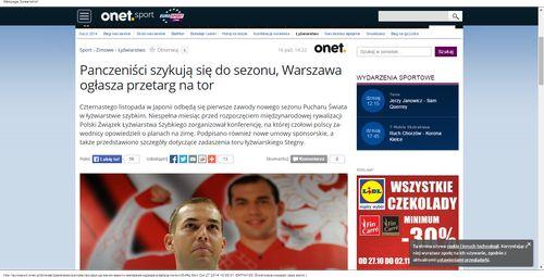 Panczeniści szykują się do sezonu, Warszawa ogłasza przetarg na tor - Sport_W500