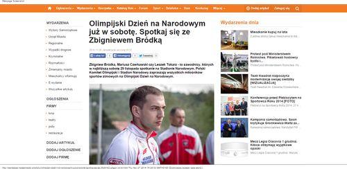 Olimpijski Dzień na Narodowym już w sobotę. Spotkaj się ze Zbigniewem Bródką - Naszemiasto.pl_W500