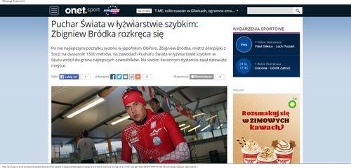 Puchar Świata w łyżwiarstwie szybkim  Zbigniew Bródka rozkręca się - Sport_W500