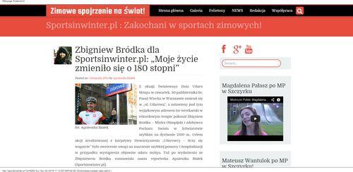 """Zbigniew Bródka dla Sportsinwinter.pl  """"Moje życie zmieniło się o 180 stopni""""   Zimowe spojrzenie na świat!_W500"""