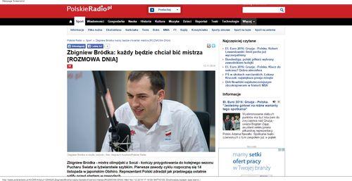 Zbigniew Bródka  każdy będzie chciał bić mistrza [ROZMOWA DNIA  - Sport - polskieradio.pl_W500