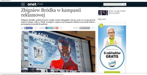 Zbigniew Bródka w kampanii reklamowej - Ofsajd_W500