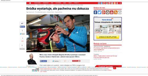 Łyżwiarstwo szybkie - Zbigniew Bródka i jego pachwina mają się lepiej - Łyżwiarstwo_W500