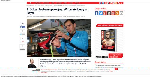 Zbigniew Bródka Puchar Świata w łyżwiarstwie 2014 Bal Mistrzów Sportu - Łyżwiarstwo_W500