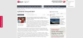 Łyżwiarze chcą pod dach – artykuł www.rp.pl
