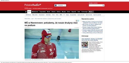 MŚ w Heerenveen  pokażemy, że nasze drużyny stać na podium - Sport - polskieradio.pl_W500