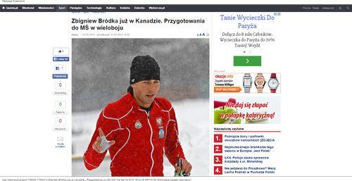 Zbigniew Bródka już w Kanadzie. Przygotowania do MŚ w wieloboju_W500