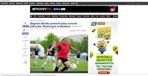 Zdjęcie nr 1 w galerii - Zbigniew Bródka zamienił łyżwy na korki piłkarskie. Strzelił gola w Olsztynie_W500