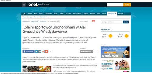 Kolejni sportowcy uhonorowani w Alei Gwiazd we Władysławowie - Wiadomości_W500