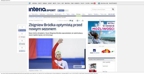 Zbigniew Bródka optymistą przed nowym sezonem - sport.interia.pl_W500